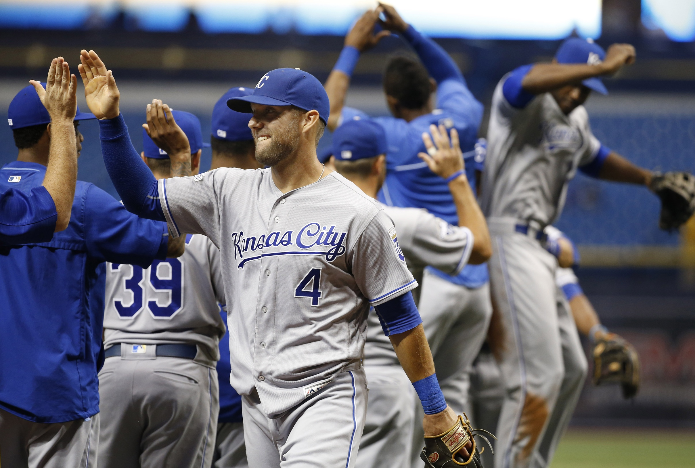 Royals Celebrate Victory