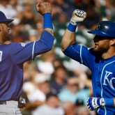 Alex Gordon and Paulo Orlando