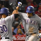 Nomar Mazara and Carlos Gomez