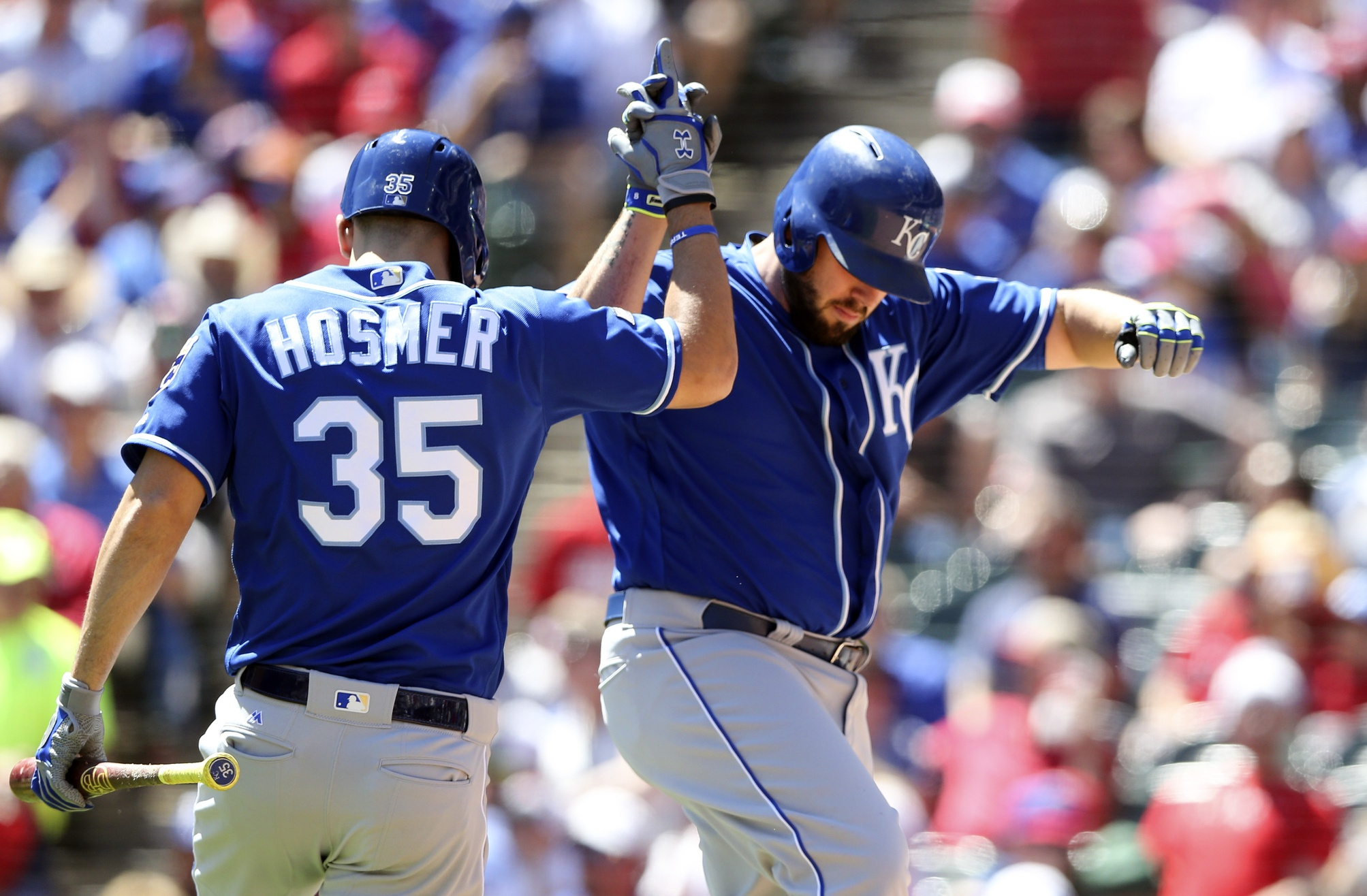 Eric Hosmer and Mike Moustakas