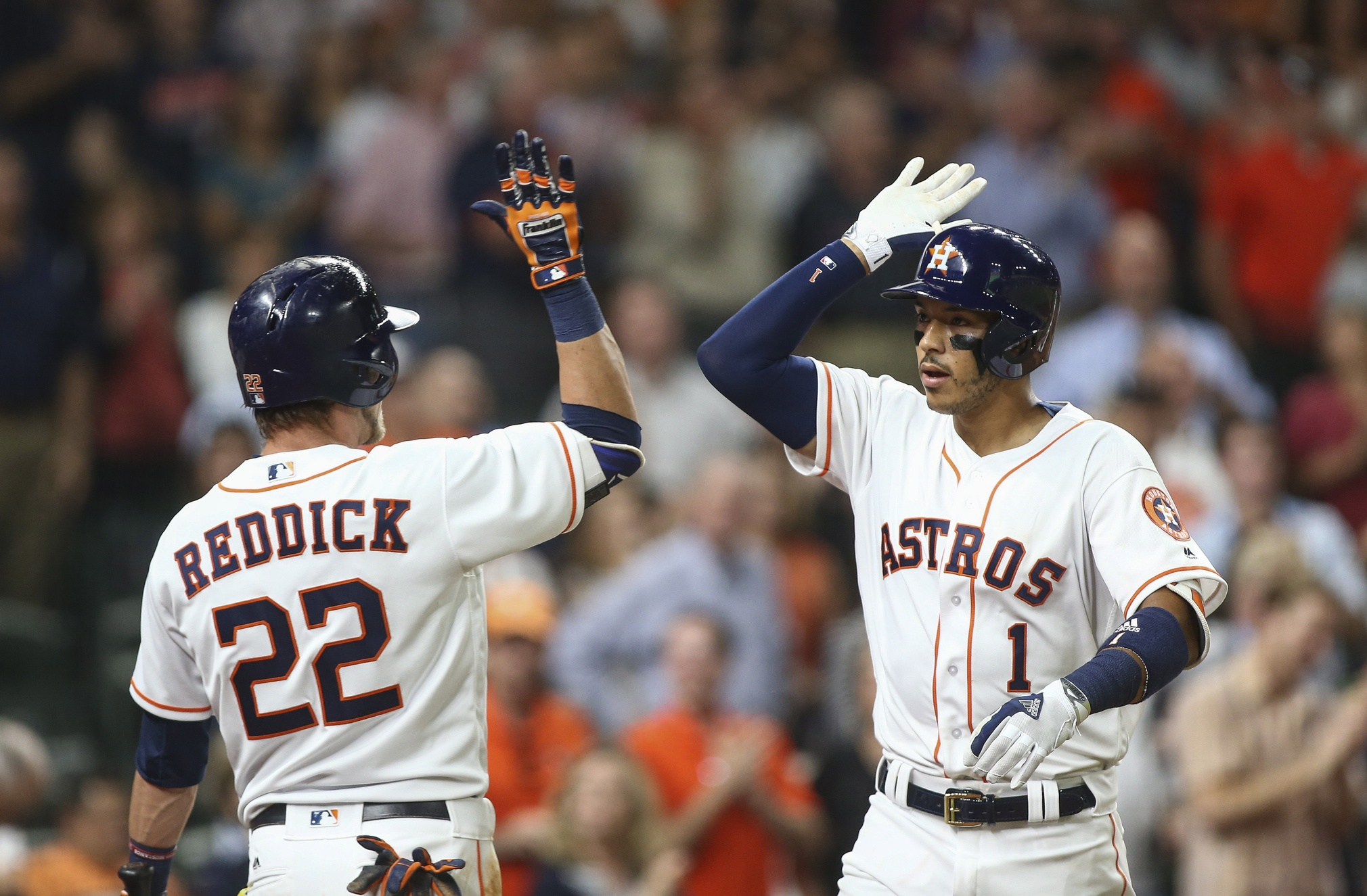 Carlos Correa and Josh Reddick
