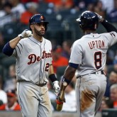 J.D. Martinez and Justin Upton