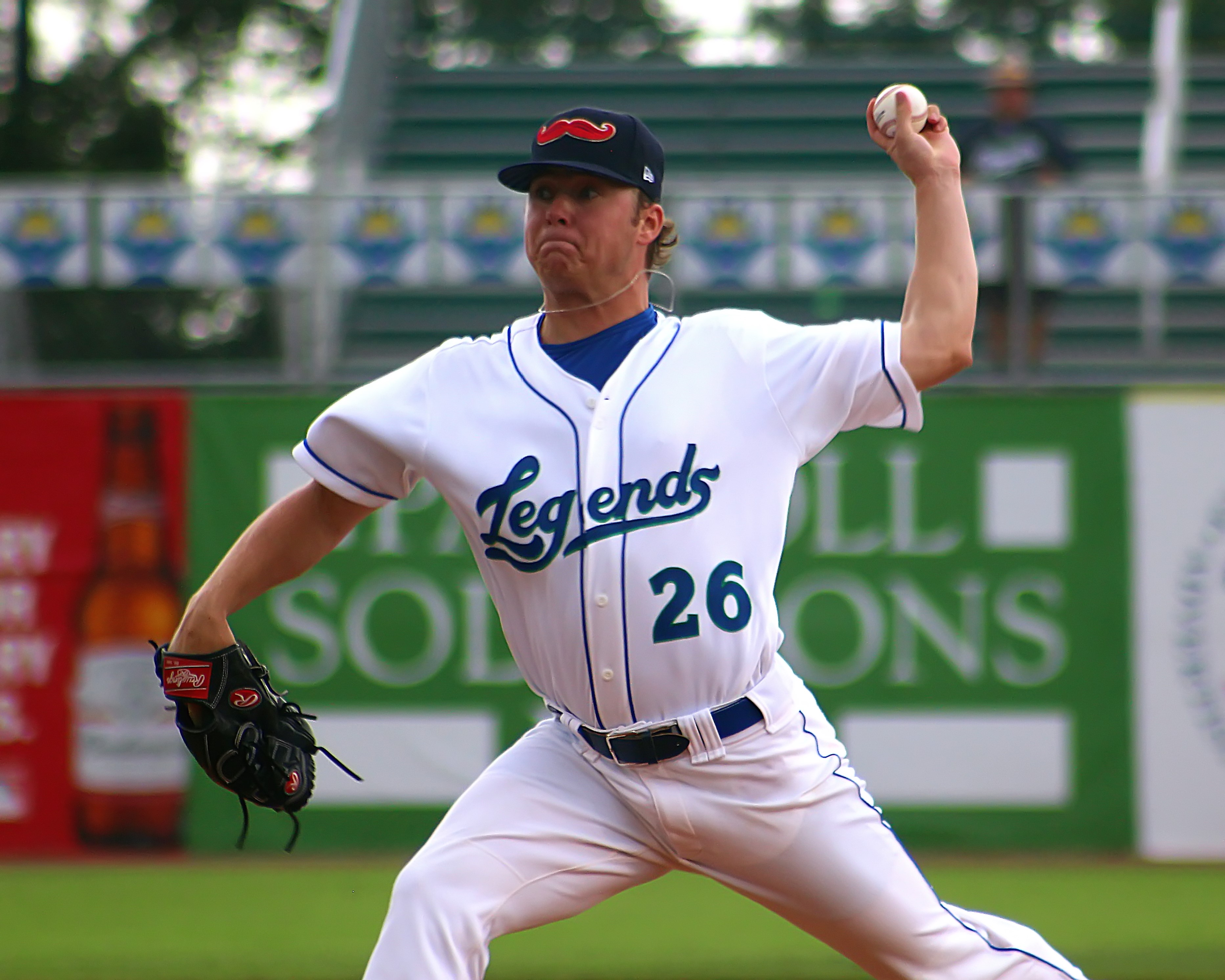 Capps in the midst of a dominant performance vs. the Asheville Tourists; 4 IP, 1 H, 0 R, 0 BB, 7 K. (Photo: Clinton Riddle)