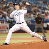 Aug 4, 2018; St. Petersburg, FL, USA; Tampa Bay Rays starting pitcher Blake Snell (4) throws a pitch during the first inning against the Chicago White Sox at Tropicana Field. Mandatory Credit: Kim Klement-USA TODAY Sports