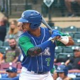 MJ Melendez, DH, Lexington Legends, About To Homer To Left-new edit2